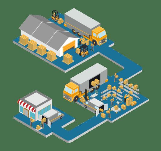 Gran almacén de logística