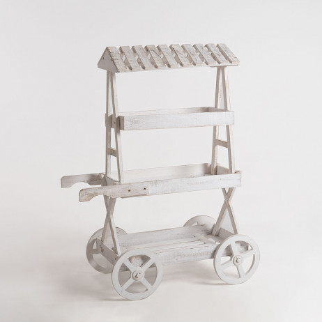 Carrito Candy Bar Rese Blanco